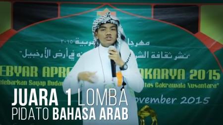 Santri Ma'had Bina Madani Juara 1 Lomba Pidato Bahasa Arab