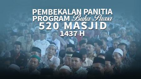 Pembekalan Panitia Program Buka Puasa 520 Masjid 1437H